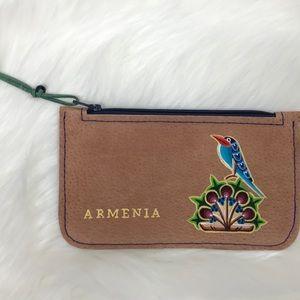 Handbags - Handmade Leather Porte-monnaie with painting